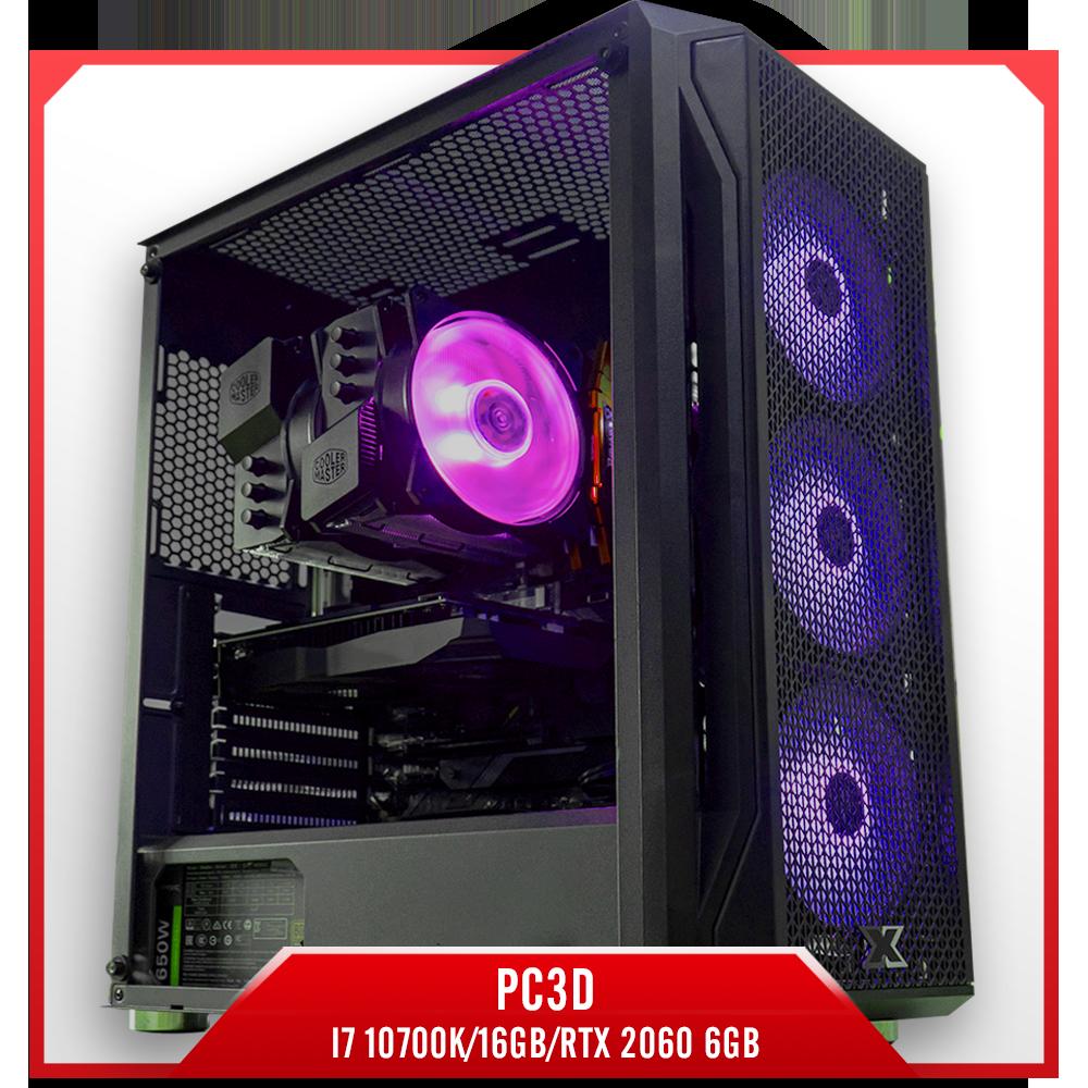 Cấu hình 8:PC3D i7 10700K/16GB/RTX 2060 6GB, pc đồ họa giá rẻ, pc đồ họa chuyên nghiệp